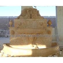 Fontaine murale de jardin pour fontaine d'eau de marbre en pierre extérieure (SY-W064)