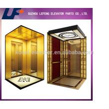 Opcional decoración de cabina de ascensor de pasajeros / piezas de ascensor