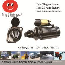 Новый электрический пусковой двигатель 1.6 кВт для Beinei 492q, Bj212, Nj136