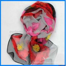 Весна / лето печати шифон молодых девочек шарф
