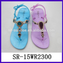 wholesale china fasion lady PVC sandals women casual sandals ladies slippers