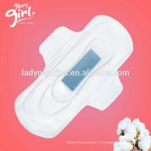 Super absorbant et jour utilisé meilleures serviettes hygiéniques ion négatif dames