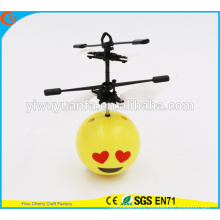 High Quality Love Heart Emoji Face Heli Ball for Kids Christmas Gift