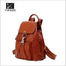 Meninas de compras mochila / mochila em branco / meninas sacos de mochila de couro