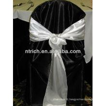 Ceinture de chaise satin décoratifs pour banquet et mariage
