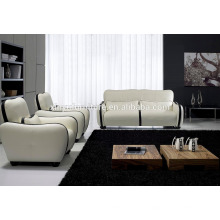 Conjunto de sofá em pele branco e preto KW350