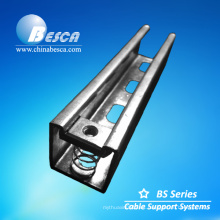 Soporte de bandeja de cable de canal unistrut de canal de acero U