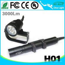 Interrupteur magnétique 3 flash flash de plongée alimenté avec un gopro