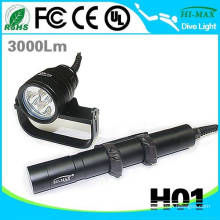 Magnetic switch 3 diving flash light led with goodman handle gopro mount