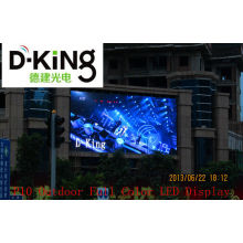 Large P10 Outdoor Full Color Led Display For Supermarket , 7500cd/㎡ Brightness