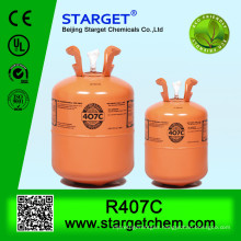 refrigerant gas R407c with high purity R407c 11.3kg/25lb disposable cylinder
