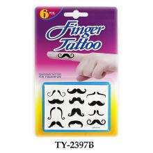 Funny Mustache Finger Tattoo