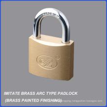 Top Quality Brass Painted Imitate Brass Arc Type Iron Padlock