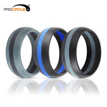 Creative Present Training Finger Band Men's Silicone Wedding Ring