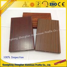 Grain en bois adapté aux besoins du client de profil 3D d'extrusion en aluminium pour la décoration