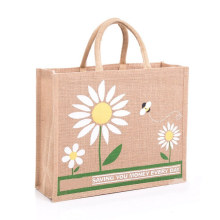 Burlap Hemp Recycled Gift Tote Bag Linen Promotional Cheap Carry Shopping Bag with Custom Print