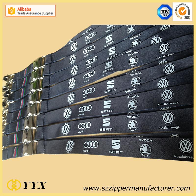 Silicone rubber logo printing lanyard