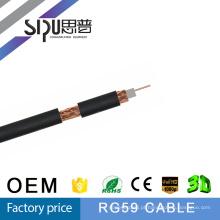 SIPU menor preço 75ohms cabos coaxiais rg59 cabo