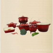 Ensemble de cuisinière en fonte d'émail de 7PCS Fournisseur De Chine