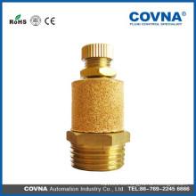 Material de latón silenciador de aire neumático silenciador de aire