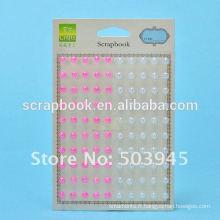 la moitié de perle étiquette autocollante de perles pour scrapbook