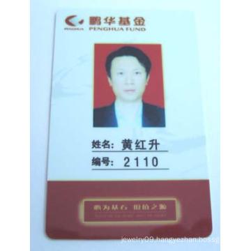 PVC employee card