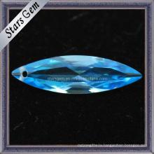 Швейцарский голубой маркиз формы драгоценных камней кубического циркония
