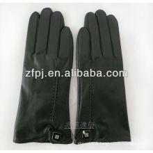 Gants de type amoureux Gants tactiles Cuir avec couleur noire