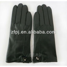 lovers type gloves touch gloves leather with black color