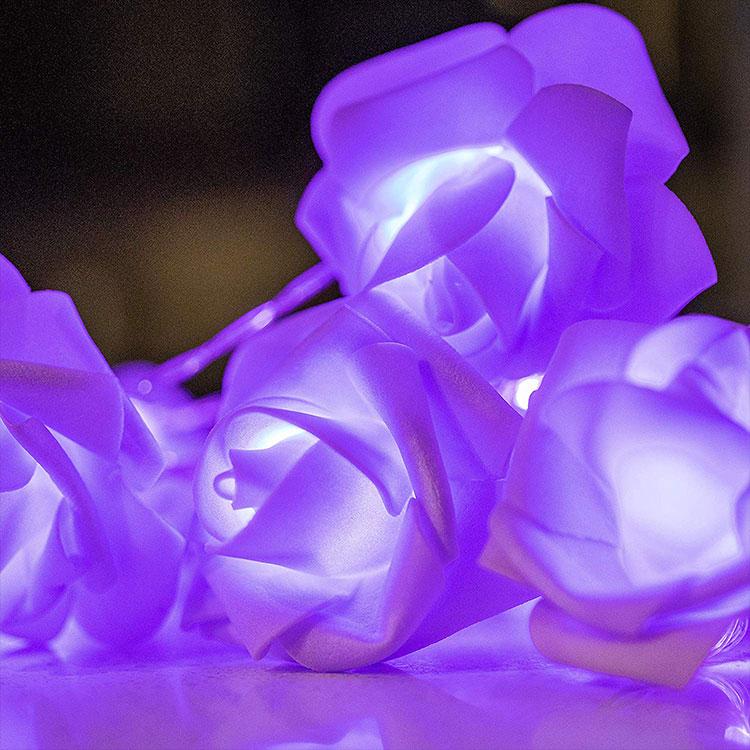 rose flower led fairy string light