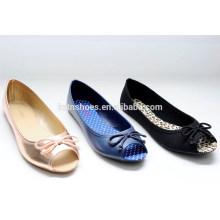 2015 new arrivel Peep-toe Simple Flat Women Shoes Ballet Shoes