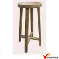Taburete de madera redondo de la vendimia silla alta