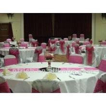 hermosos manteles para bodas y banquetes, paño de tabla del poliester 100%