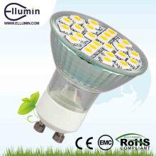 5050 SMD светодиодные пятно света GU10 водить стеклом света