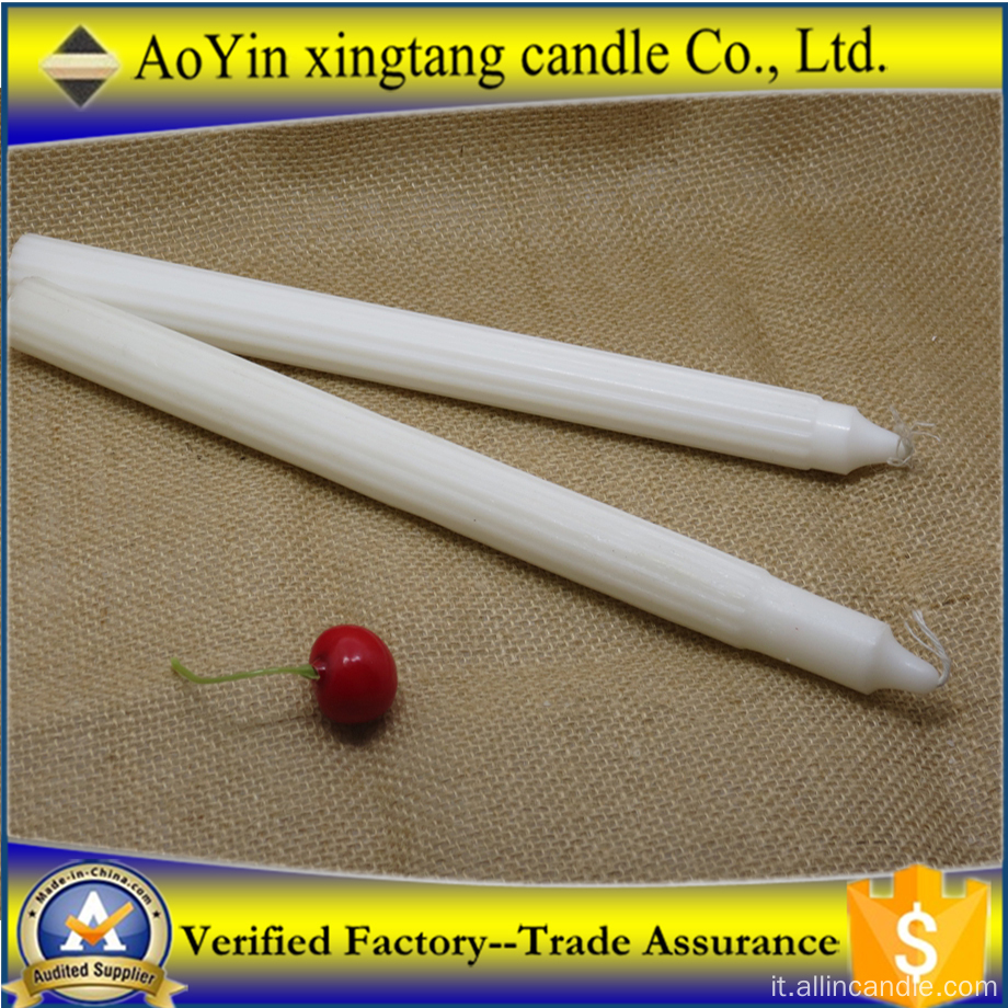 Candle Export South Africa Church Candela per flauto bianco