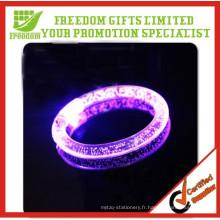 Bracelet acrylique de lumière électronique de 8.5CM LED