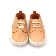 New Style Soft Sole Läder Baby Casual Shoes