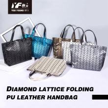 La bolsa de asas modificada para requisitos particulares bolso geométrico de las mujeres de la moda de la PU del bolso de compras