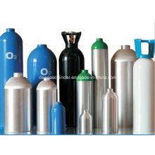 Cilindros de oxigênio de alumínio 10L com alças