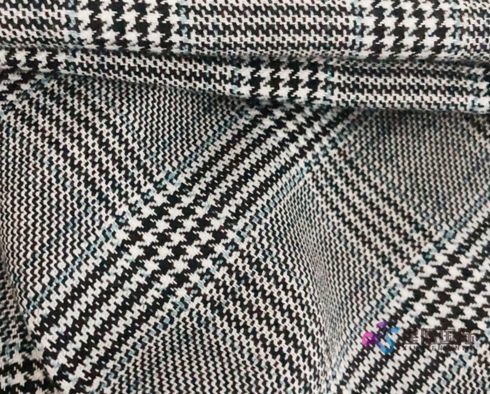 Glen Plaid Tr Stretch Fabric 2