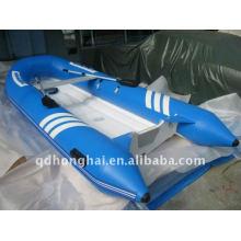 CE 8,9 pies RIB270 costilla pequeña embarcación inflable motor fuera de borda fibra de vidrio