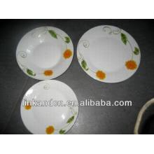 Haonai placa de degustación de cerámica plana a granel conjunto, placa de cena establece
