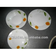 Haonai bulk plain ceramic tasting plate set,dinner plate sets