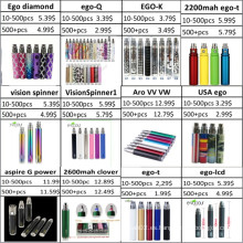 Venta al por mayor Spinner batería de visión, EGO batería, Diamond Battery
