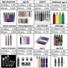 Vente en gros de Spinner Battery, EGO Battery, Diamond Battery
