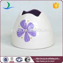 YSb50077-01-th promotion chinaware toothbrush holder product with purple flower design