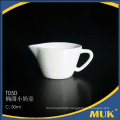 china supplier royal hotel use white porcelain pot