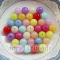 Acrylic jelly opaque round beads jelly miracle beads