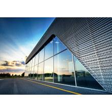 Murs rideaux en aluminium à double verre trempé