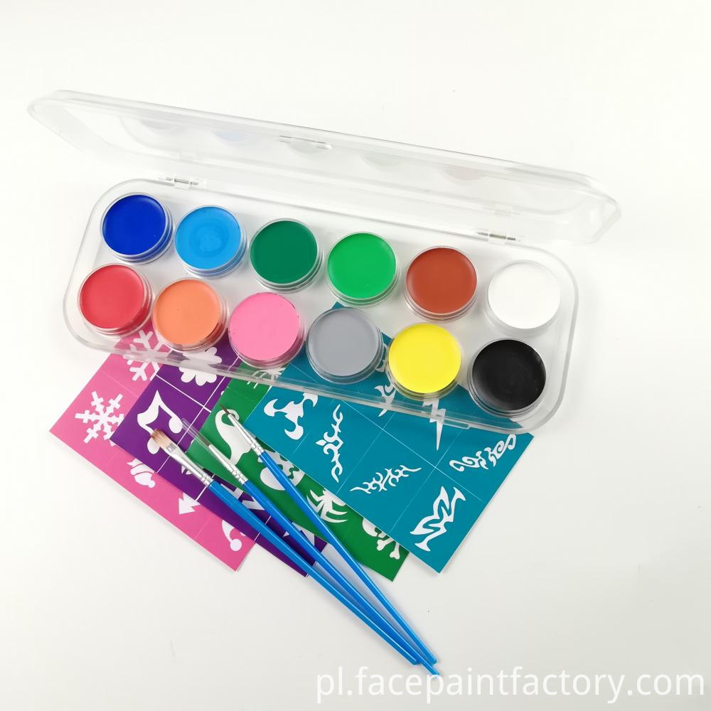 12 Colors Face Paint 1